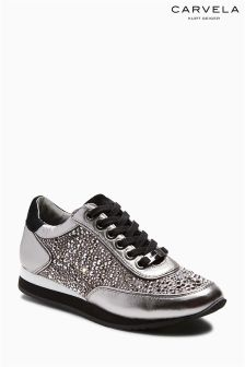 Carvela Pewter Lemmy Embellished Trainer