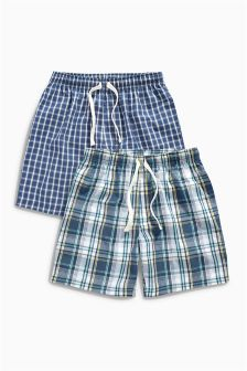 Check Shorts Two Pack