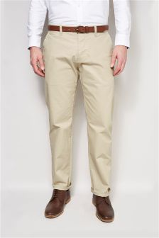 Laundered Belted Chinos