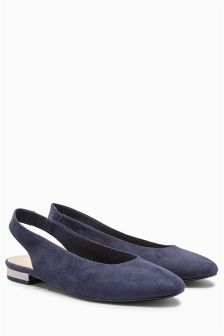 Round Toe Slingbacks