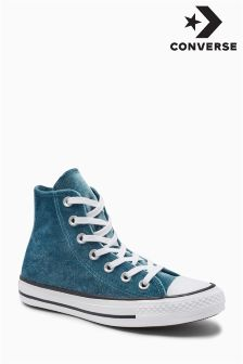 Converse Teal Velvet All Star Hi Top