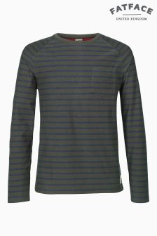 Fat Face Ecru Breton Stripe Crew