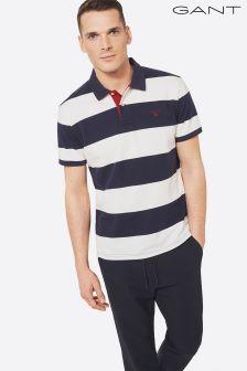 Gant Navy Contrast Collar Poloshirt