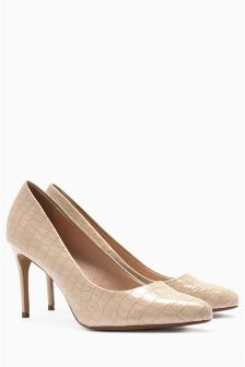 Forever Comfort Croc Effect Court Shoes