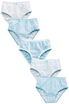 Blue/White Briefs Five Pack (1.5-16yrs)