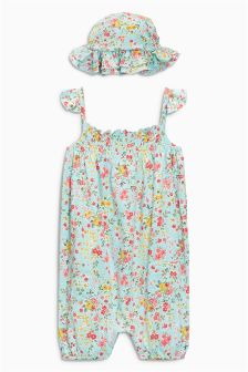 Blossom Playsuit And Hat (3mths-6yrs)