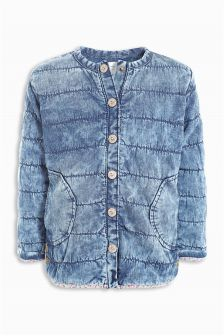 Mid Blue Acid Wash Denim Jacket (3mths-6yrs)