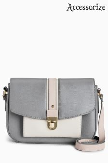 Accessorize Grey Verity Colourblock Cross Body Bag