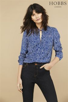 Hobbs Blue Henrietta Top