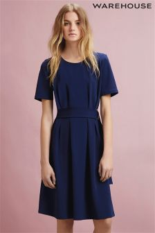 Warehouse D Ring Compact Crepe Dress