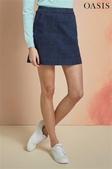 Oasis Rinse Denim Mini Skirt