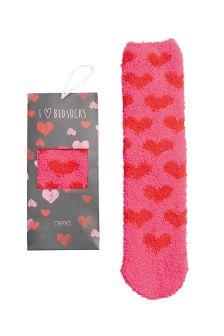 Pink Heart Socks In A Box