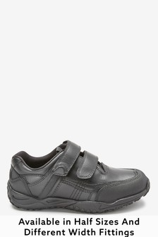 Sporty Double Strap Leather Shoes (Older Boys)