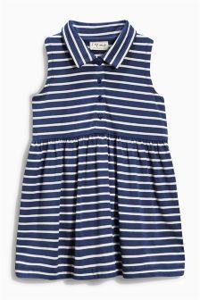Navy Stripe Dress (3mths-6yrs)