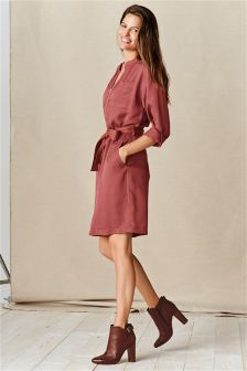 Red Utility Dress