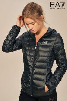 Emporio Armani EA7 Black Hooded Jacket