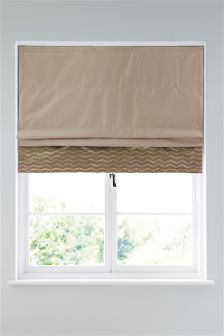 Mink Metallic Shimmer Blackout Roman Blind