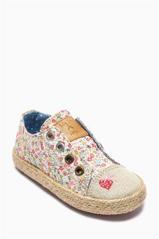 Print Laceless Low Tops (Younger Girls)