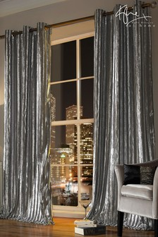 Kylie Iliana Silver Curtains