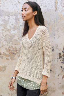 Stitch Knit Layer Top