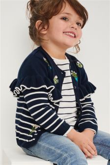 Cactus Embroidered Frill Cardigan (3mths-6yrs)