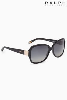 Ralph by Ralph Lauren Black Logo Arm Sunglasses