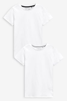 White Short Sleeve T-Shirts Two Pack (3-16yrs)