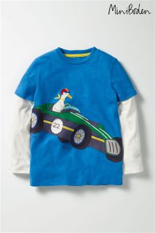 Boden Blue Layered Vehicle T-Shirt