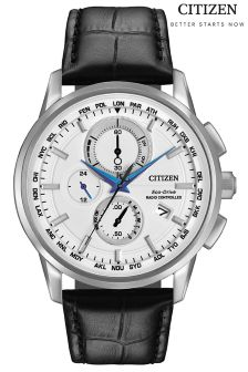Black Citizen Eco Drive Chronograph A.T Watch