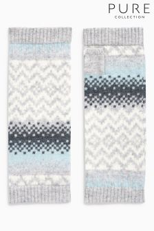 Pure Collection Grey Cashmere Mitt