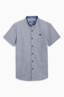 Navy Mini Gingham Shirt (3-16yrs)