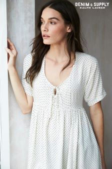 Ralph Lauren Denim & Supply Cream Spot Shirt Dress