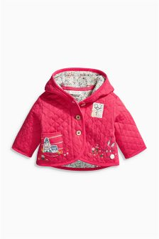 Pink Embroidered Detail Jacket (0mths-2yrs)