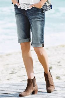 Denim Knee Shorts