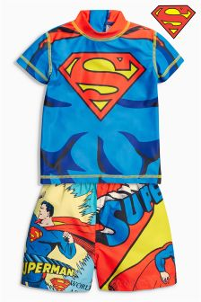 Blue Superman® Sunsafe Two Piece Set (3mths-6yrs)