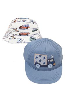 Transport Cap And Fisherman's Hat Two Pack (Younger Boys)
