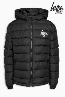 Hype Black Padded Coat