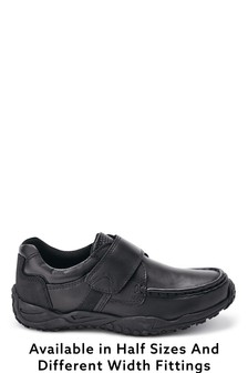 Black Sporty Strap Shoes (Older Boys)