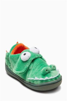 3D Crocodile Slippers (Younger Boys)