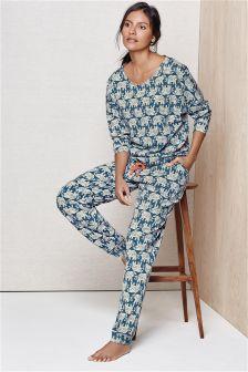 Elephant Print Pyjamas