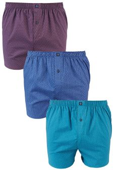 Geo Woven Boxers Three Pack