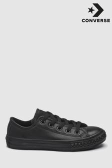 Converse Black Leather Chuck Taylor Ox