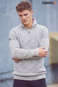 Superdry Grey Quarter Zip Jumper