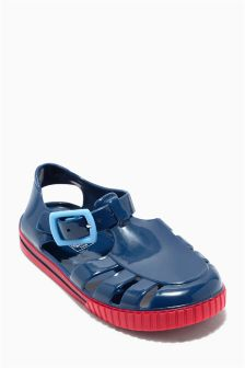 Blue Jelly Shoes (Younger Boys)