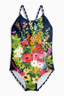 Multi All Over Print Floral Swimsuit (3-16yrs)
