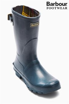 Navy Barbour® Short Jarrow Wellington Boot