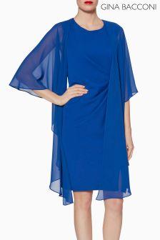 Gina Bacconi Blue Chiffon Shawl