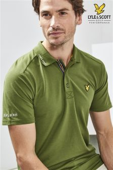 Lyle & Scott Golf Khaki Hawick Polo