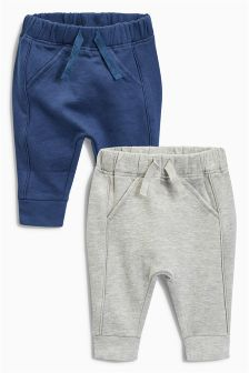 Grey/Navy Joggers Two Pack (0mths-2yrs)