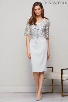 Gina Bacconi Grey Lily Dress And Jacket